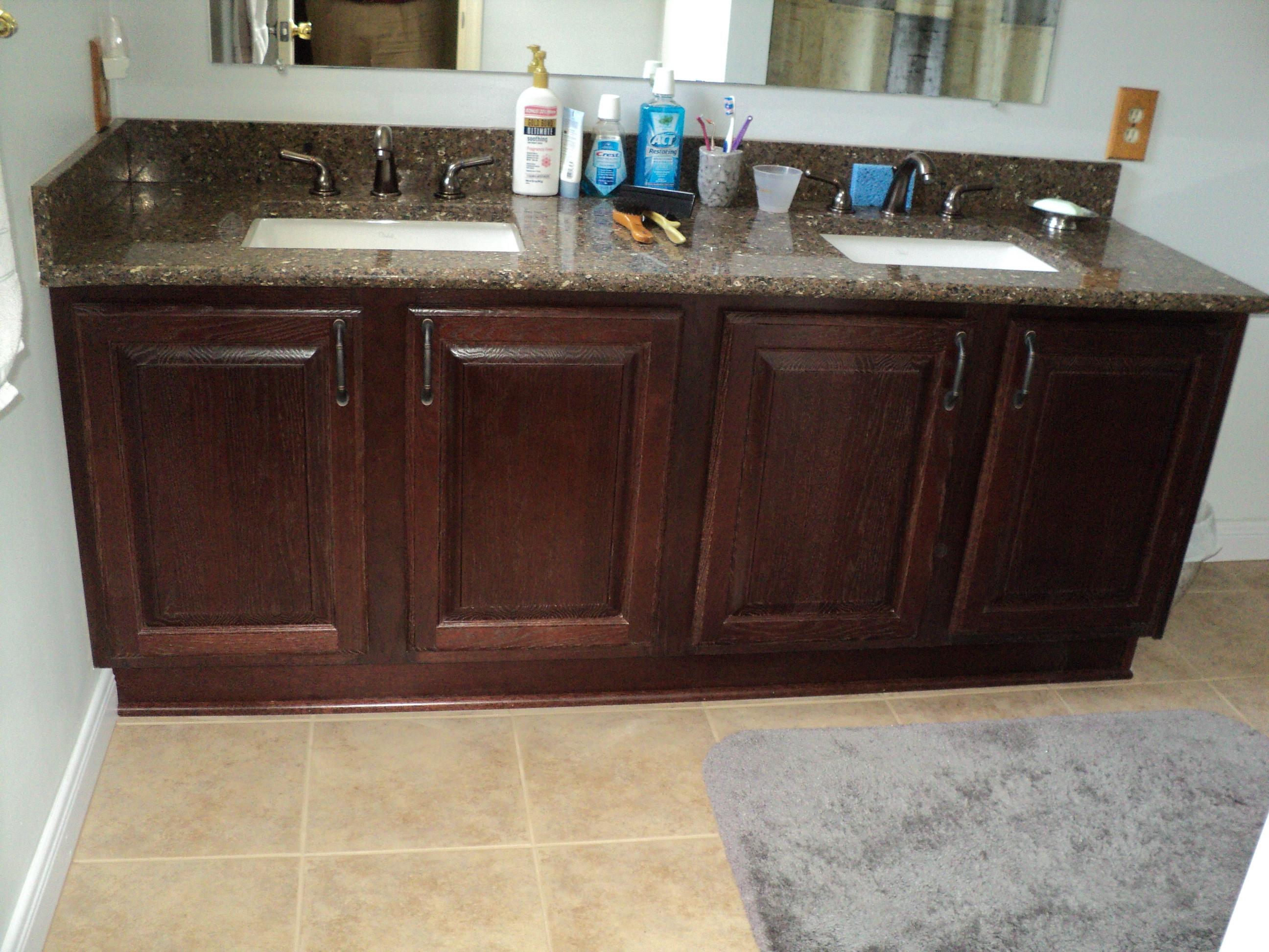 Refacing bathroom vanity can i reface my bathroom vanity for Bathroom cabinets refacing